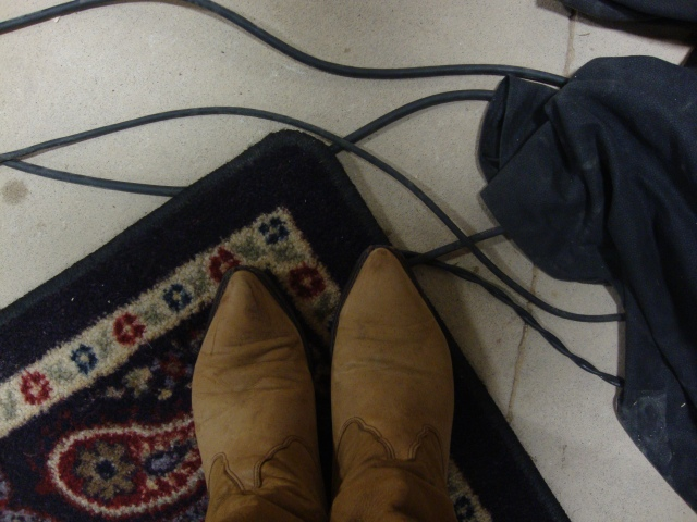my boots were self-conscious