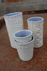 cable knit tumblers