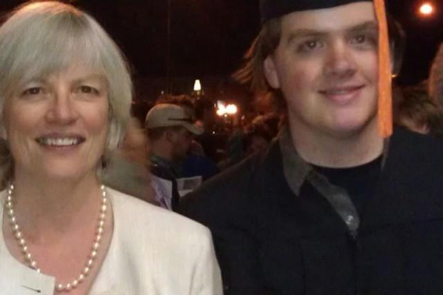 Judie and David, graduation day.